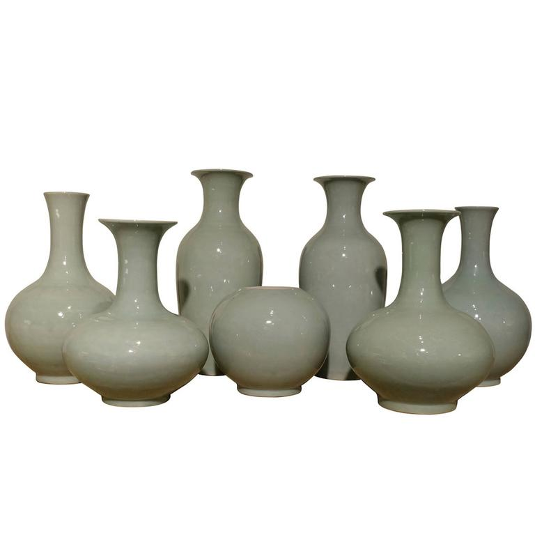 Pale Turquoise Vase Collection, China, Contemporary