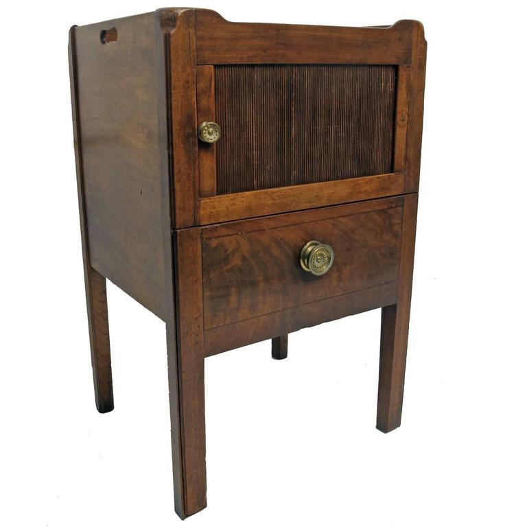 Mahogany Georgian Bedside Cabinet