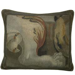 Antique Brussels Tapestry Pillow, circa 1660