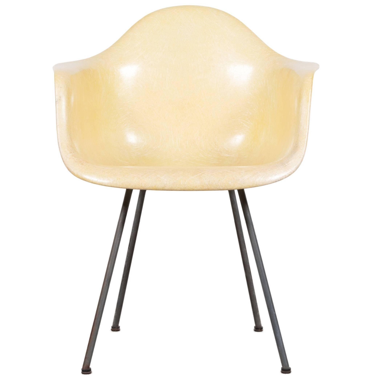 Eames Lemon Yellow Dax Herman Miller 'Zenith Rope' Dining Chair