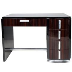 Art Deco Style Desk with Macassar Drawers