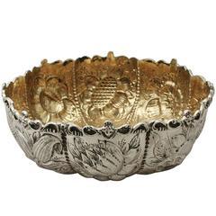 Antique Victorian Sterling Silver Bon Bon Bowl