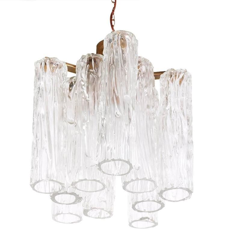 1940s Murano Chandelier Attributed to Barovier & Toso