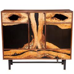 Spalted Maple Face Cabinet by Don Howell, circa 2010