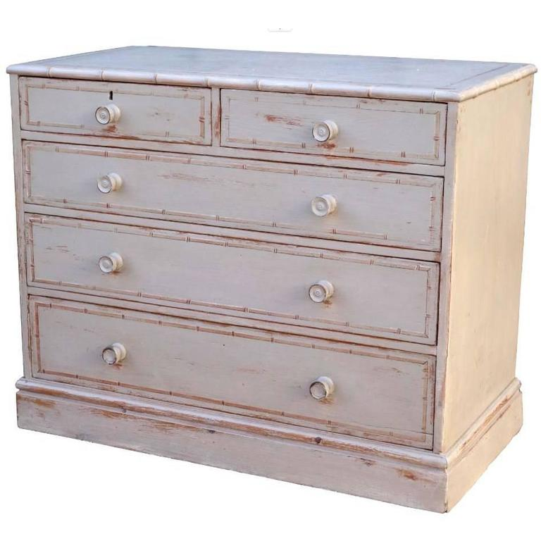 English Dresser in Faux Bamboo Style 1