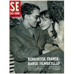 Se Og Hør Magazine Featuring Jean Luc Godard & Anna Karina, Denmark