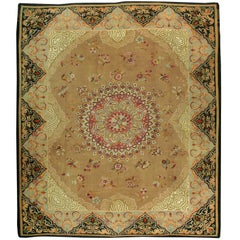 Antique French Aubusson Flat-Weave Rug