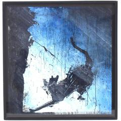 Modern Abstract Painting by Richard Hambleton Purple Shadow Cat