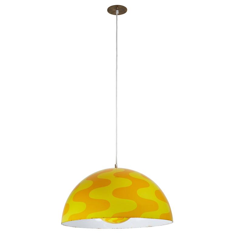 "Rare ""Big Flowerpot"" Pendant by Verner Panton for Louis Poulsen 1"