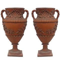 Pair of Terracotta Urns