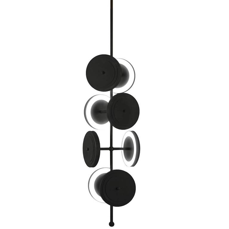Le Royer Chandelier in Satin Black by Larose Guyon