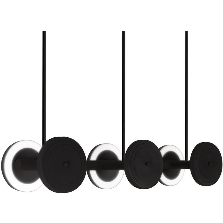 Le Royer Large 01 Pendant in Satin Black by Larose Guyon