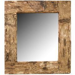 Birch Bark Frame with Mirror