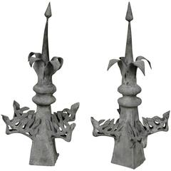 Pair of French Epi De Faitage, Roof Ornaments