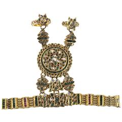 Mughal 20-Karat Emerald Set Combination Bracelet and Rings