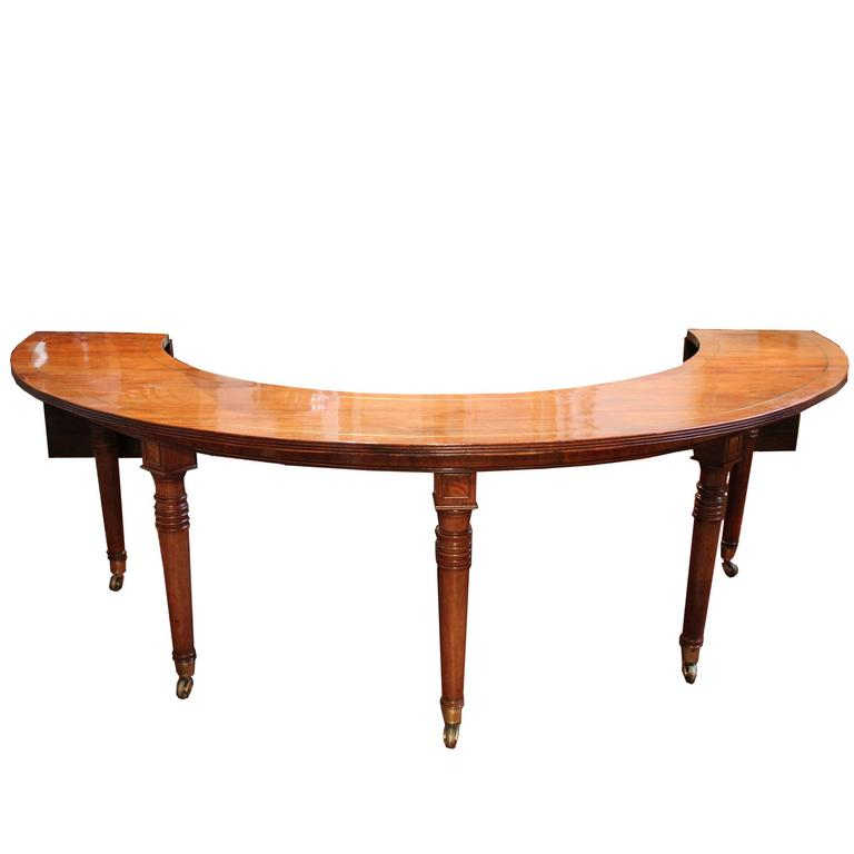 19th Century English Regency Semi-Circular Mahogany Hunt and Wine Display Table 1
