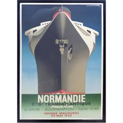 1990s French Normadie Inaugural Poster