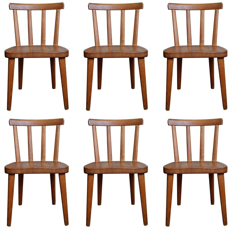 "Set of Six ""Utö"" Chairs by Axel Einar Hjorth, 1930s"
