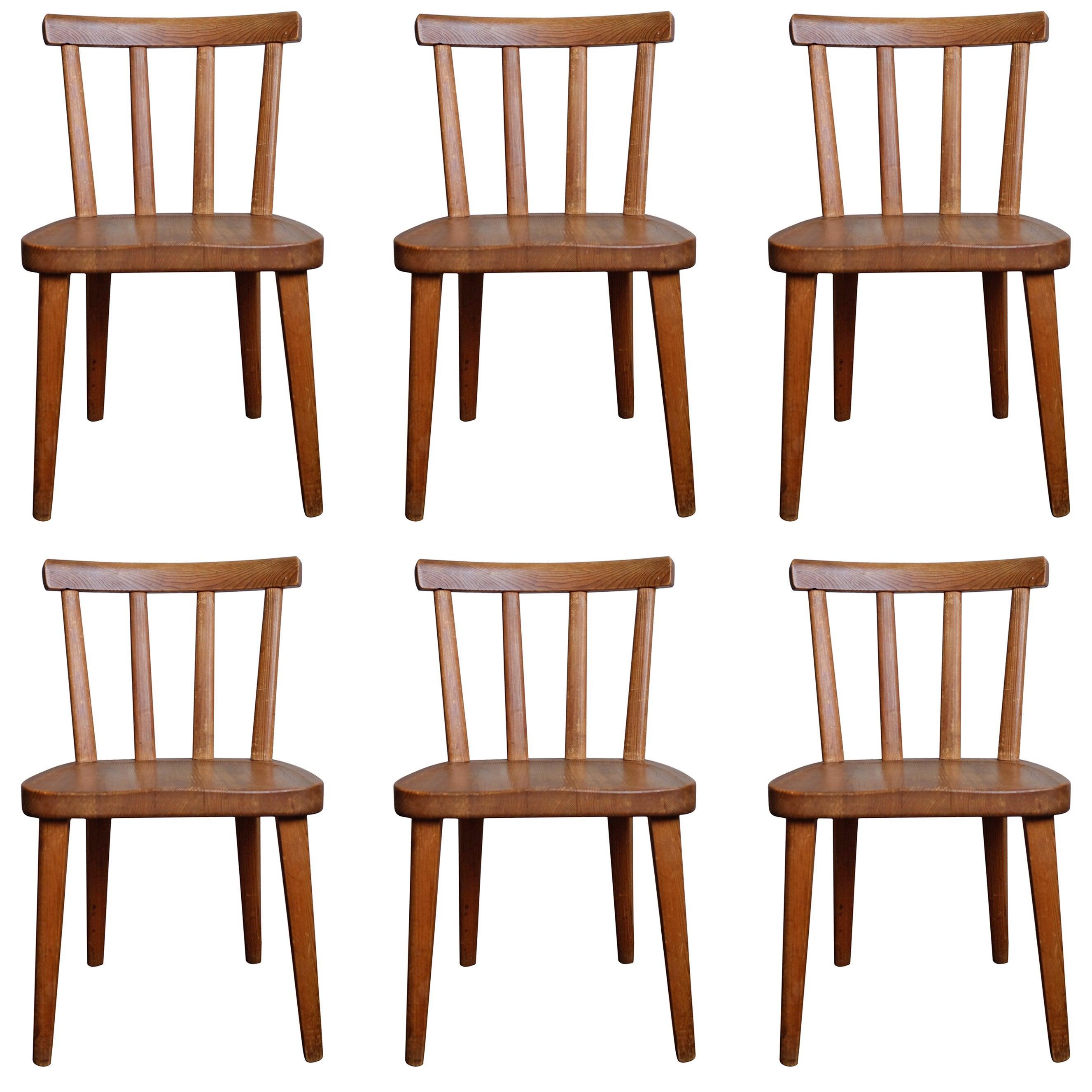 "Set of Six ""Utö"" Chairs by Axel Einar Hjorth, 1930s"