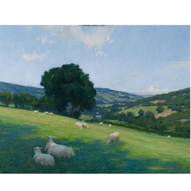 """The Vale of Usk in Wales"" Painting For Sale"