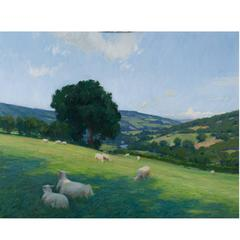 """The Vale of Usk in Wales"" Painting"