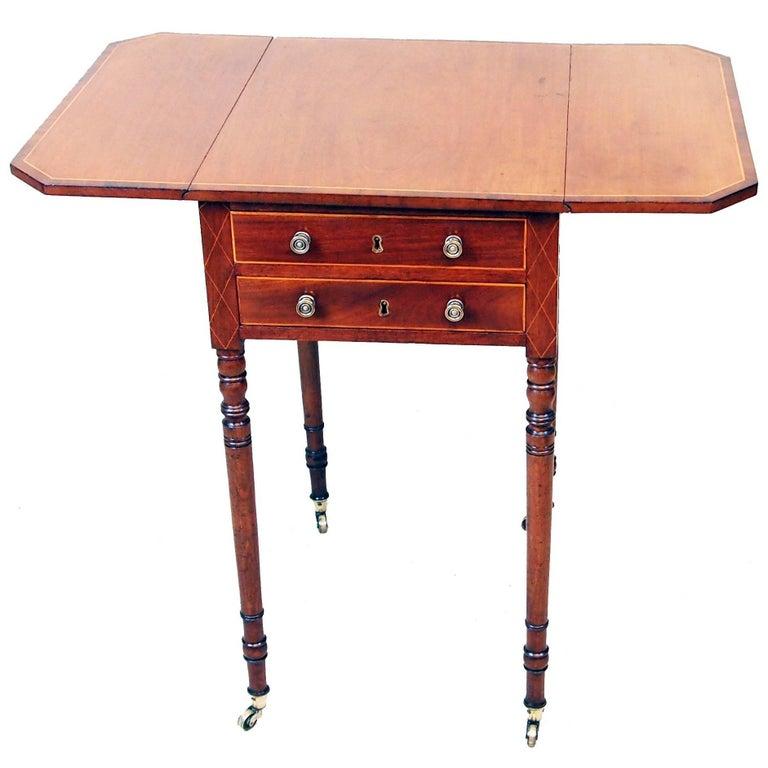 Antique Georgian Mahogany Baby Pembroke Table