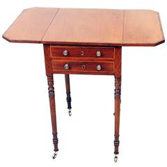 Antique Georgian Mahogany Baby Pembroke Table