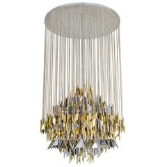 Mixed Metal Element Chandelier