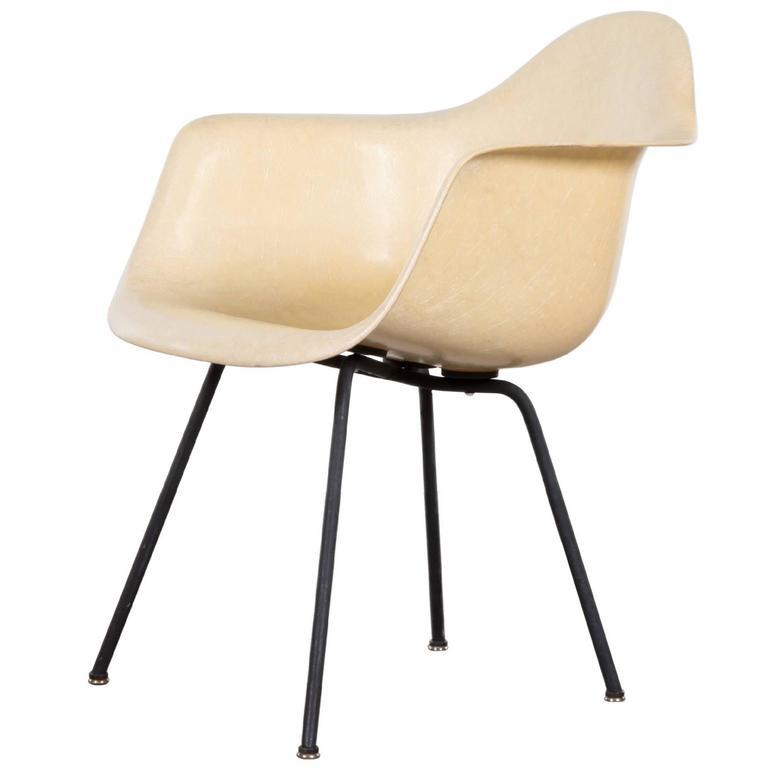 Eames Parchment SAX Herman Miller USA U0027Zenith Ropeu0027 Standard Chair ...