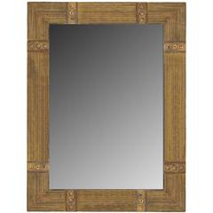 "Austrian Style Reeded ""Button"" Mirror"