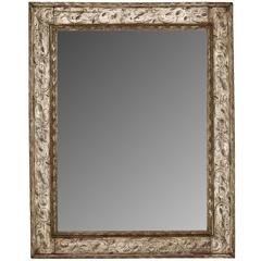 Spanish Style Silver Patterned Giltwood Mirror