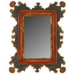 Spanish Style Carved and Gilt Mirror
