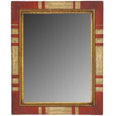 Spanish Style Painted and Gilt Mirror
