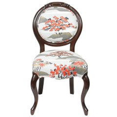 Newly Refinished Victorian Side Chair in Japanese Motif