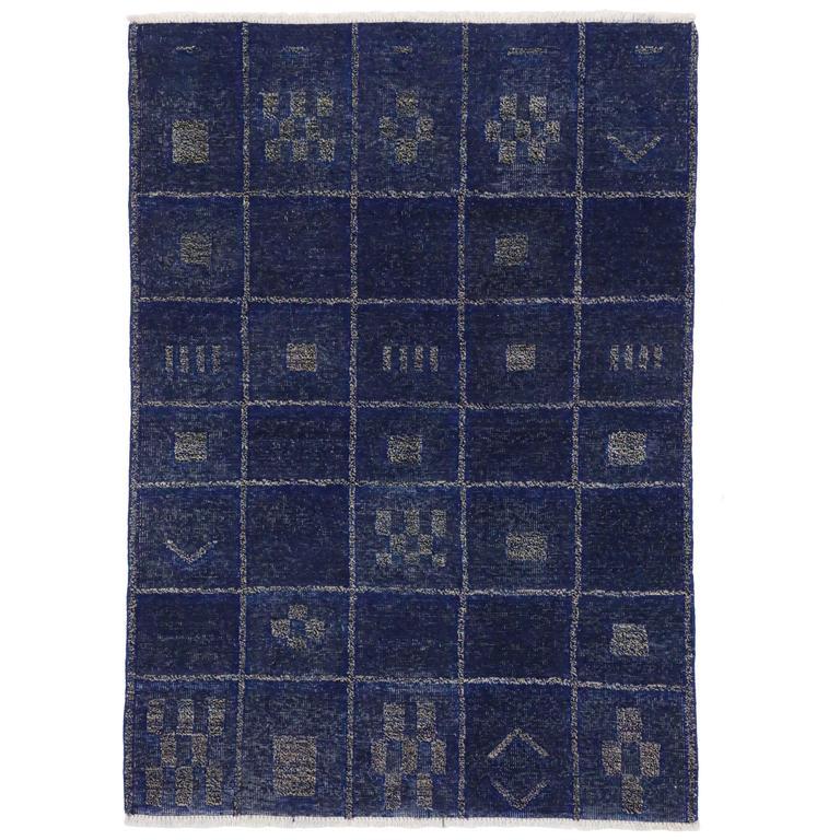 Blue Modern Carpet Texture