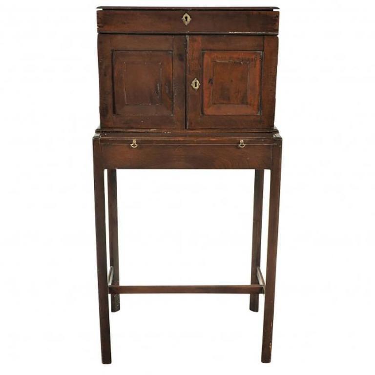 Antique Travel Desk On Stand At 1stdibs