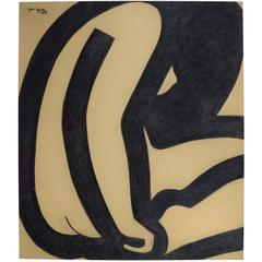 Jan Yoors, Charcoal Drawing G-50.16A, USA, 1975