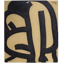 Jan Yoors, Charcoal Drawing G-48.12, USA, 1975