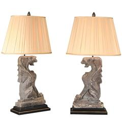 Pair of Lamps from Architectural Pieces