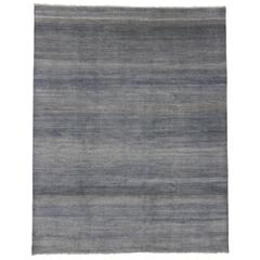 Contemporary Transitional Grass Cloth Pattern Area Rug with Modern Style