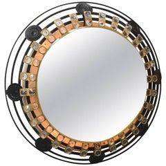 Illuminated Brutalist Mirror, Germany, 1960s