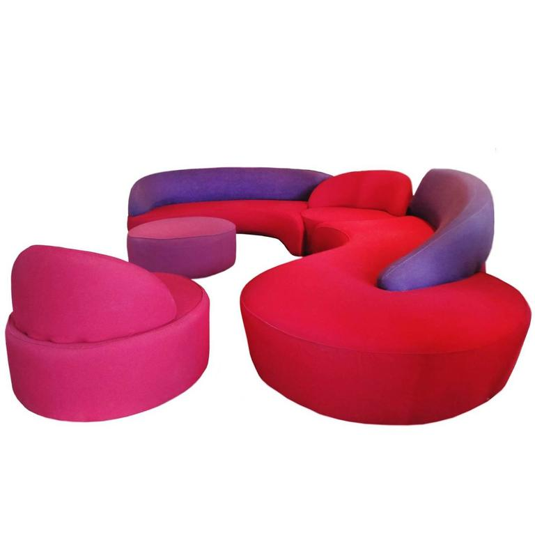 Modern Circular Sectional colorful Sofa by Vladimir Kagan for Roche Bobois