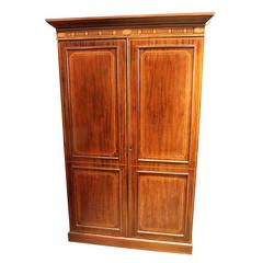 18th Century George III Mahogany Linen Cupboard
