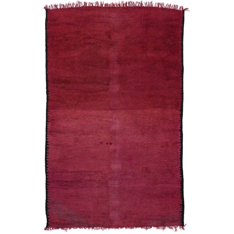 Vintage Berber Moroccan Rug with Boho Chic Style For Sale