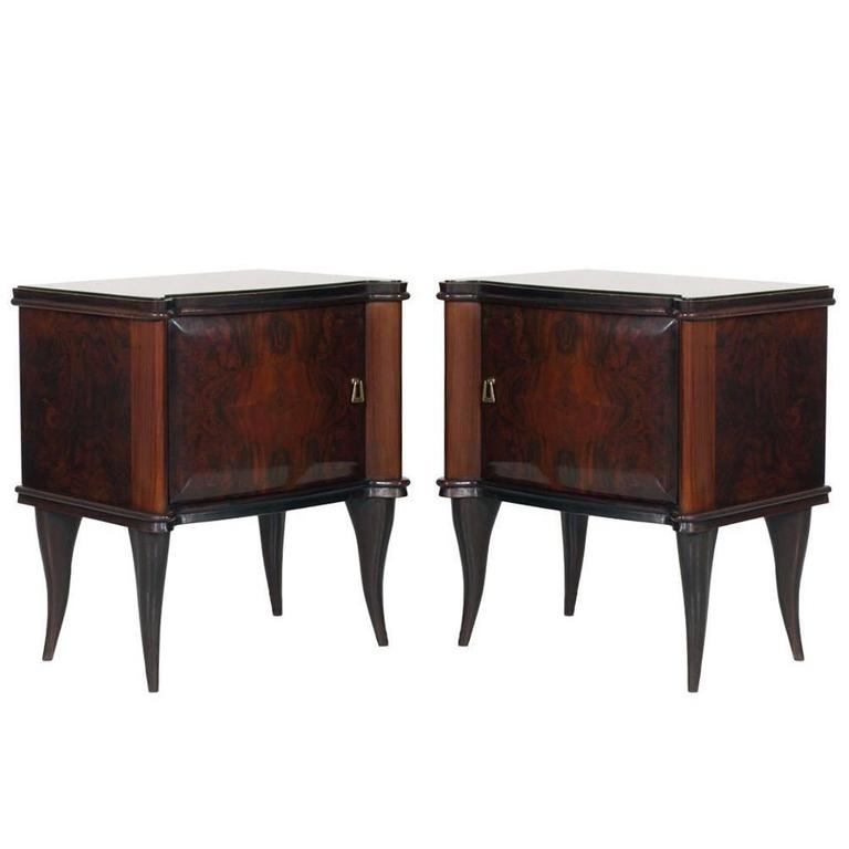 Mid century modern italian vittorio dassi style for Modern nightstands for sale