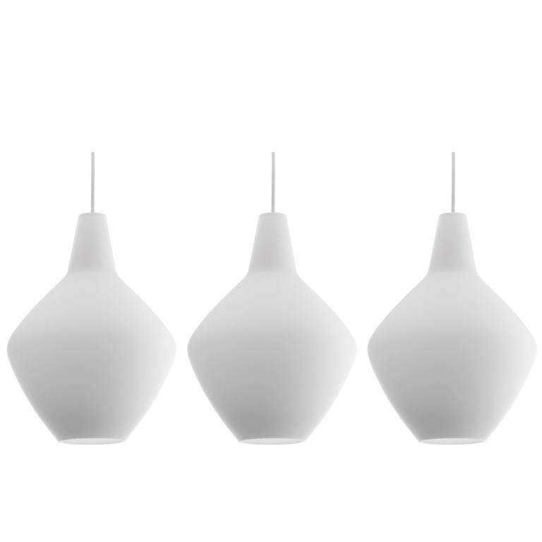 Lisa Johansson-Pape Glass 'Onion' Pendants