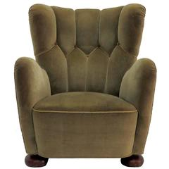 Danish 1950s High Back Lounge Chair