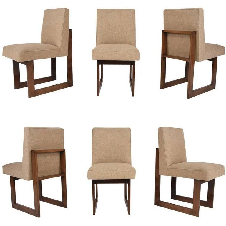 Vladimir Kagan Set Of Six Cubist Dining Chairs For Sale