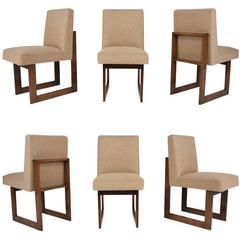 Vladimir Kagan Set of Six Cubist Dining Chairs