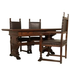 Early 20th Century Desk & Chairs Tuscan Renaissance by Dini & Puccini - Cascina